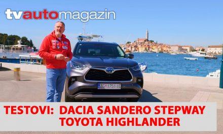 SEZONA 10 – EMISIJA 33 – Dacia Sandero Stepway, Suzuki prodajna akcija, Toyota Highlander, Kia Auto Dalmacija, Maserati Levante Hybrid