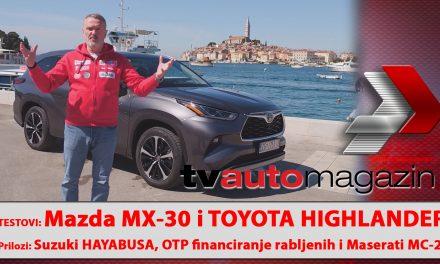 SEZONA 10 – EMISIJA 49 – Mazda MX-30, suzuki Hayabusa, Toyota Highlander, OTP i financiranje rabljenih, Maserati MC-20