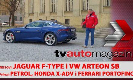 SEZONA 10 – EMISIJA 51 – VW Arteon Shooting Brake, Petrol elektro punionice, Jaguar F-Type, Honda X-ADV MY21, Ferrari Portofino